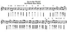 Joy To The World Tin Whistle Sheet Music
