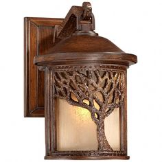 Bronze Mission Style Tree 9 High Outdoor Wall Light - Need One for each side of the front door. Outdoor Wall Light Fixtures, Outdoor Wall Lighting, Outdoor Walls, Lighting Ideas, Outdoor Sconces, Ceiling Lighting, Unique Lighting, Craftsman Lighting, Exterior Lighting