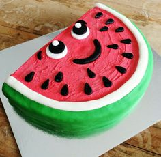 Watermelon smiling face cake