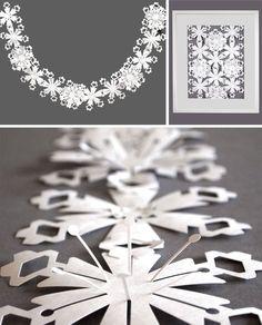 White Tyvek Interlinking Flowers  Garland by sarahlouisematthews, £22.00