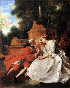 Jean-François de Troy - The Play Pied-de-Bœuf, 1725