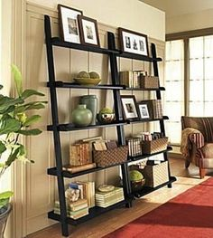 "DIY Ladder Bookshelves from ""Unique Bookshelves"""