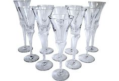 Assorted Czech Crystal Flutes, Set of 10 on One Kings Lane