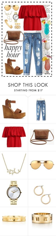 """""""Summer cocktails"""" by brookemuir ❤ liked on Polyvore featuring Steve Madden, Bling Jewelry, Linda Farrow, Nixon, Nordstrom, Tiffany & Co. and TIKI"""
