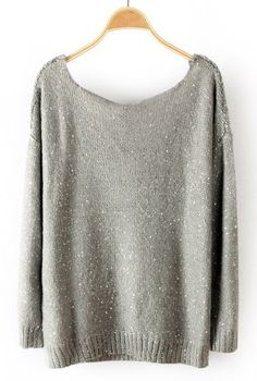 Grey Sequined Pullover