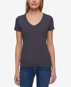 Tommy Hilfiger V-Neck T-Shirt, Created for Macy's - Blue XXL