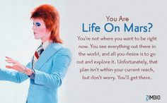 I'm Life On Mars?. Which David Bowie song are you? - Quiz