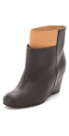 MM6 Maison Martin Margiela Overlasted Wedge Booties-Shopbop