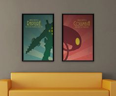 Bioshock Inspired Vintage Poster Set - Welcome to Rapture/Columbia on Etsy, $27.20 CAD