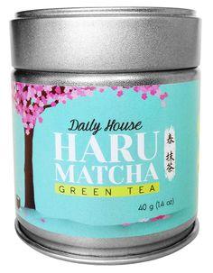 HARU MATCHA - 40g Tin (1.40oz) Daily House Matcha - High Drinking Grade Matcha Green Tea Powder - Ichibancha First Harvest ** Additional details at the pin image, click it  : Fresh Groceries