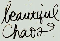 Beautiful chaos-typography tattoo