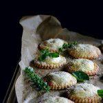 white peach, rose, & basil hand pies
