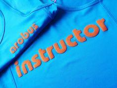 Sport shirt bedrukt met flock voor sportschool Arobus