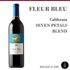 Our new Fleur Bleu Seven Petals Blend is comprised of 35% Zinfandel, 25% Syrah, 15% Malbec, 9% Merlot, 9% Cabernet Sauvignon, 4% Petite Sirah and 3% Cabernet Franc. The nose is rich and full of black cherry, prune and blackberry. Delish! https://multibra.in/bmhsb