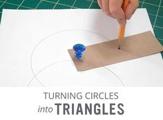 Playful Geometry: Turning Circles into Triangles - Playful Learning Geometry Lessons, Teaching Geometry, Teaching Math, Math Work, Math Class, Fun Math, Learning Games, Math Games, Math Activities