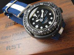 SEIKO Marlene master prof Robert-F-MARX limited SBBN00E on MiLTAT G10 Nylon watch strap