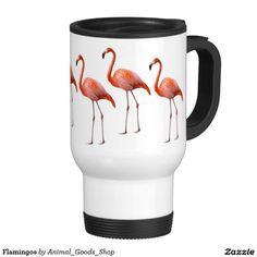 Flamingos 15 Oz Stainless Steel Travel Mug