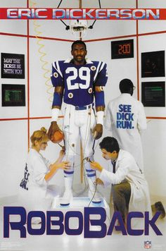 Sports Posters, Retro Posters, Eric Dickerson, Sports Mix, Peyton Manning, National League, Nfl Jerseys, American Football, College Football