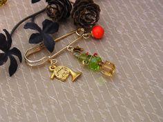 Christmas Brooch Christmas Jewelry Christmas Tree by QuietRobin, $15.00