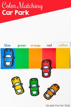 Color Matching Car Park – Simple Fun for Kids - Kids&Baby Toys Teaching Toddlers Colors, Toddler Color Learning, Color Activities For Toddlers, Colors For Toddlers, Preschool Colors, Teaching Colors, Preschool Learning Activities, Infant Activities, Book Activities