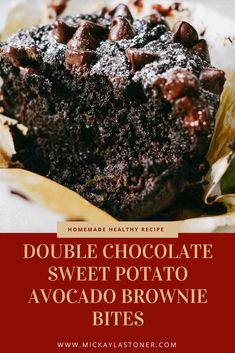 Your kids and husband will love these Double Chocolate Sweet Potato Avocado Brownie Bites that not only taste great but are healthy too. I've made several versions of these with amazing results. Try them and see. I bet you will love them too.