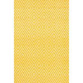 Found it at Wayfair - Diamond Canary & White Indoor/Outdoor Area Rug