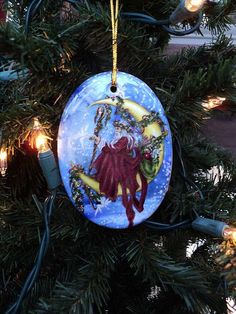 Father Yule Ornament by MickieMuellerStudio on Etsy Holiday Fashion, Holiday Style, Holiday Decor, Salt Dough, Winter Solstice, Yule, Pagan, Christmas Bulbs, Father