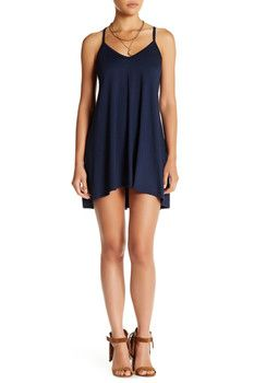 Go Couture Hi-Lo V-Neck Trapeze Dress