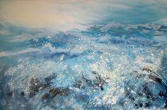 Bude, High Tide, Cornwall, Paths, Giclee Print, Coastal, Seas, Artwork, Prints