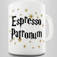 Espresso Patronum Magical Coffee Mug door TwistedEnvyRhineston, £9.00