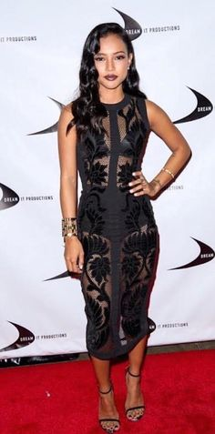 Karrueche stunned on the red carpet at the Till We Meet Again Movie Premiere.