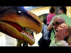 Страшный динозавр Рекс пугает детей ❤️ Видео про динозавров