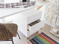 Micasa Arbeitszimmer mit Korpus COX Nightstand, Table, Furniture, Home Decor, Personal Counseling, Space Saving, Office Workspace, Closet Storage, Drawers