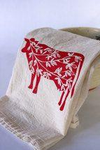Summer Cows Flour Sack Tea Towel