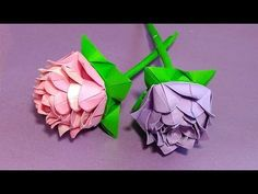 DIY paper rose in origami style. Easy paper rose. - YouTube