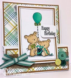 LOTV - Happy Bears Stamp Set by Kitty Frampton