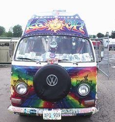 Psychedelic Volkswagen Van