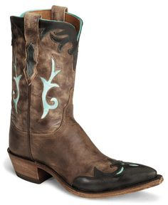 Lucchese Boots - Handcrafted 1883 Brown Antiqued Cowgirl Boot - Snip Toe - Sheplers