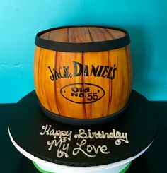Jack Daniels barrel cake Made at White Oak Bakery in Jacksonville, NC  https://m.facebook.com/profile.php?id=229641777853&tsid=0.7721540010534227&source=typeahead
