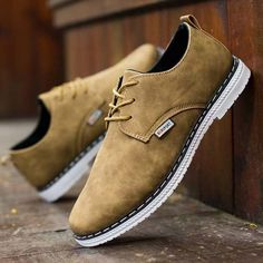 Casual Business Shoes Lace Up Round Toe Oxfords for Men - Gchoic.com