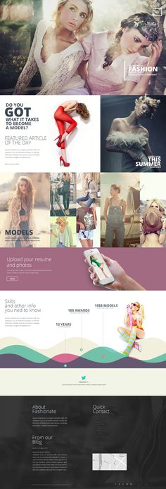 Single Page Fashion Template PSD