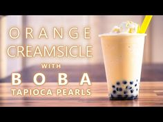 Learn how to make a Orange Creamsicle drink using Bubble Tea Supply's Orange Flavor Powder with Vanilla Ice Cream and Boba Tapioca Pearls by Neptune Ice. This is the standard recipe for our flavor powder however you can easily substitute in milk, almond milk, etc for the creamer and water. You can also change out the sweetener to match the flavor preferences of your customers or friends and family. Visit our website for the full recipe.