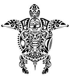 Cool Maori Tattoo Designs And Ideas Tiki Tattoo, Tattoo Kind, Hawaiianisches Tattoo, Samoan Tattoo, Body Art Tattoos, Flag Tattoos, Tribal Turtle Tattoos, Tribal Tattoos With Meaning, Tattoo Maori Perna