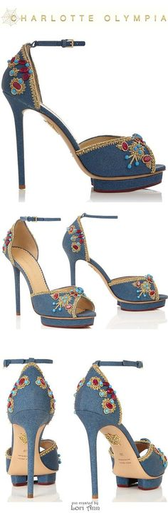Charlotte Olympia Savannah in Denim - Spring 2015