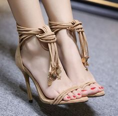 Tassel Fashion Simple Heels SHOES_Wholesale clothing, Wholesale Clothes Online From China Wholesale Shoes, Wholesale Clothing, Fishtail Skirt, Stylish Sandals, Open Toe High Heels, Gladiator Sandals, Stiletto Heels, Tassel, Peep Toe