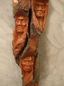 Native American Indian Wood Carvings | Multiple Wood Carving Wood Spirit Native American Indian Spirits ...