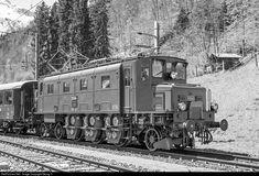 High quality photograph of SBB Historic Ae I # 10664 at Linthal, Switzerland. Rail Transport, Swiss Railways, Oil Rig, Electric Locomotive, Switzerland, Planes, British, Art Print, Railings