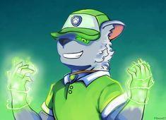 Anime Furry, Anime Wolf, Paw Patrol Rocky, 101 Dalmatians Cartoon, Furry Oc, Anthro Furry, Old Cartoons, Cartoon Dog, Dog Art