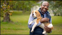 """Shamontiel wrote """"What's up with Reverend Raphael Warnock and puppies? ~ Politicians know how voters feel about dogs"""" #dogowner #petowner #doglover #GeorgiaRunOff #GeorgiaOnMyMind #GeorgiaSenate #RaphaelWarnock (Photo credit: RaphaelWarnock via Instagram)"""