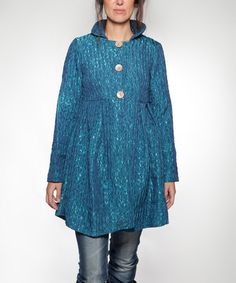 Another great find on #zulily! Blue Silence Wool-Blend Jacket by Piedra y Agua #zulilyfinds